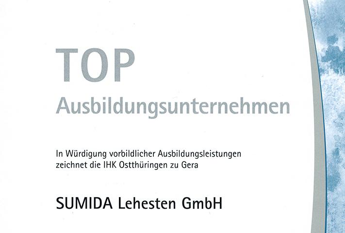 Urkunde IHK Top Ausbildungsunternehmen